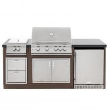 Blaze BBQ Island With 32-Inch 4-Burner Natural Gas Grill & Power Burner image