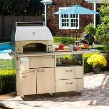 Lynx Professional Napoli 30-Inch Freestanding Propane Gas Outdoor Pizza Oven On Mobile Kitchen Cart - LPZAF-LP Lynx Professional Napoli 30-Inch Propane Gas Pizza Oven On Cart