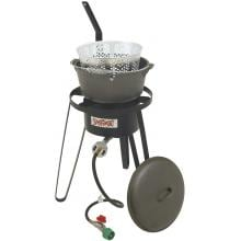 Bayou Classic Stoves Cast Iron Fish Fryer With High Pressure Outdoor Stove