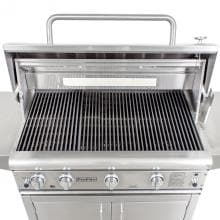 ProFire Professional Deluxe Series 48-Inch Freestanding Propane Gas Grill With Rotisserie & SearMagic Grids ProFire Professional Deluxe Series 48-Inch Gas Grill - SearMagic Cooking Grids
