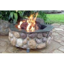FireScapes The Colorado Octagonal Propane Fire Pit image