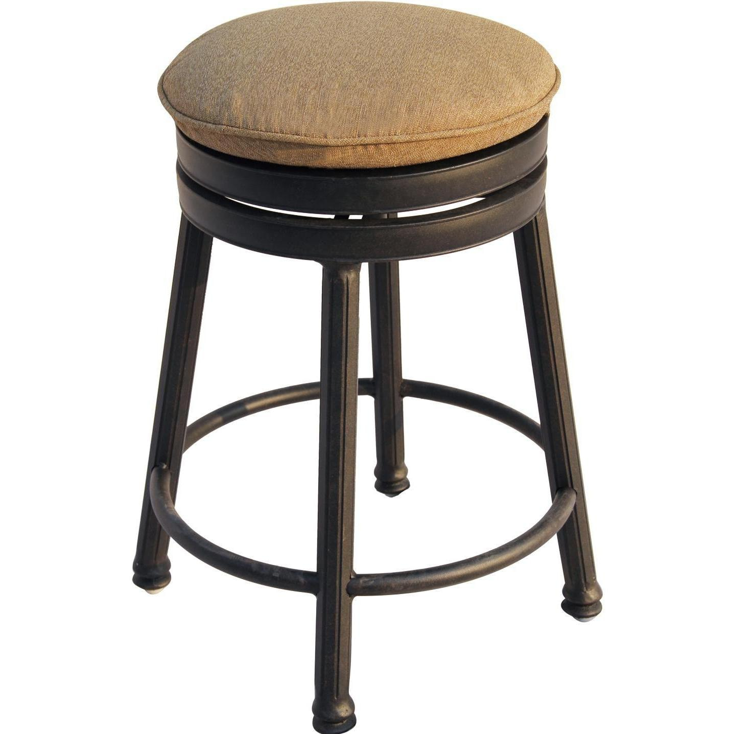 Darlee Cast Aluminum Outdoor Patio Round Bar Stool With Cushion - Antique Bronze  sc 1 st  Ultimate Patio & Darlee Classic Cast Aluminum Round Backless Patio Swivel Counter ... islam-shia.org