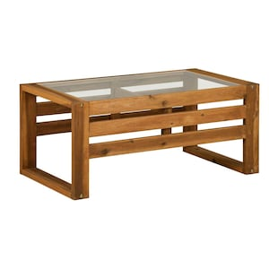 Hudson 36 X 20 Inch Rectangular Acacia Patio Coffee Table By Walker Edison image