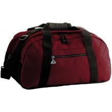 Augusta Ripstop Small Duffel Bag - Maroon/Black Front of Bag
