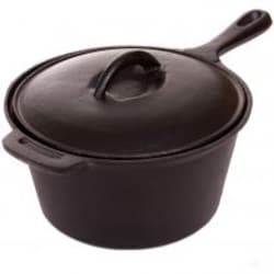Cajun Classic 2-Quart Seasoned Cast Iron Sauce Pot - GL10491AS image