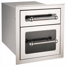 Fire Magic Echelon Black Diamond 14-Inch Double Access Drawer With Soft Close - 53802HSC image
