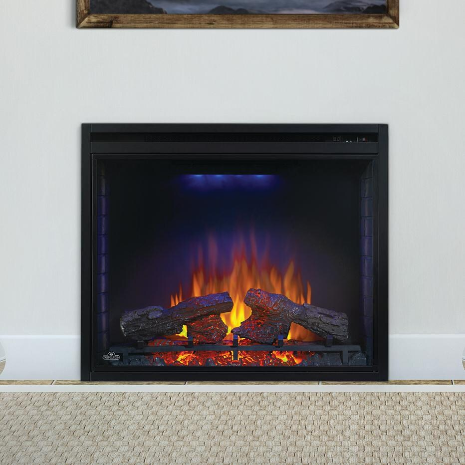 napoleon ascent 33 inch built in electric fireplace nefb33h
