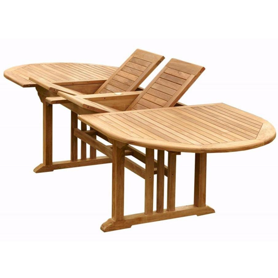 Anderson teak sahara 10 person teak patio dining set for Outdoor dining sets for 10