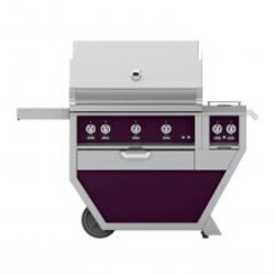 Hestan Deluxe 36-Inch Natural Gas Grill W/ All Infrared Burners, Rotisserie & Double Side Burner - Lush - GSBR36CX2-NG-PP image