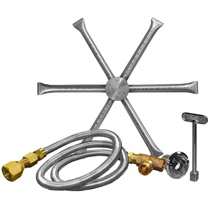 Firegear 22-Inch Burning Spur Natural Gas Fire Pit Burner Kit Without Pan -  Match Light Ignition : Ultimate Patio - Firegear 22-Inch Burning Spur Natural Gas Fire Pit Burner Kit