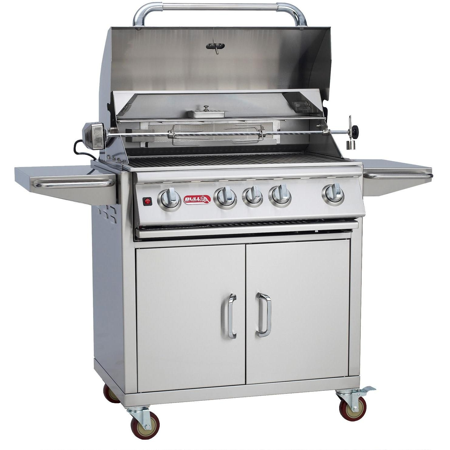 bull angus 4 burner propane gas grill on cart bbq guys. Black Bedroom Furniture Sets. Home Design Ideas