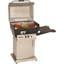 Broilmaster Q3X Qrave Natural Gas Grill On Stainless Steel Storage Cart image