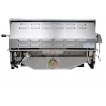 Cal Flame 40-Inch 5-Burner Convection Built-In Natural Gas BBQ Grill With Rotisserie (Ships As Propane With Conversion Fittings) - BBQ15875CN Cal Flame 5 Burner Convection Built In Gas Grill - Back View