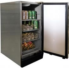 Cal Flame Outdoor Compact Refrigerator - Stainless Steel - BBQ10710