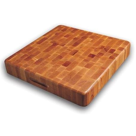 The Slab 18 X 18 End Grain Cutting Board With Finger Grooves - 1318