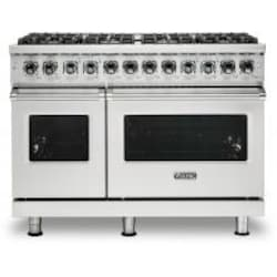 Viking Professional 5 Series 48-Inch 8-Burner Dual Fuel Propane Gas Self Cleaning Range - Stainless Steel - VDR5488BSSLP image