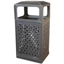 Darlee Cast Aluminum Patio Trash Receptacle - Mocha