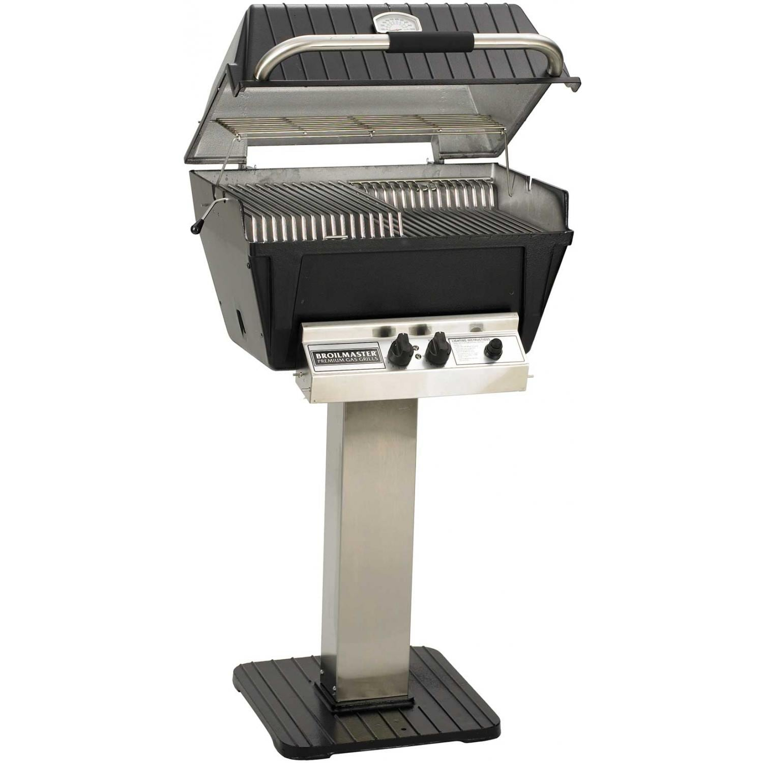 broilmaster p4 xfn premium natural gas grill on stainless steel patio post bbq guys. Black Bedroom Furniture Sets. Home Design Ideas