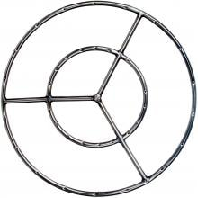 24 Inch Stainless Round Double Natural Gas Fire Pit Ring