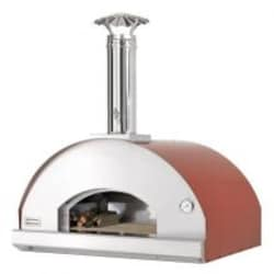 Fontana Forni Forno Toscano Mangiafuoco 39-Inch Countertop Outdoor Wood-Fired Pizza Oven - Red image