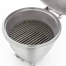 Blaze 20-Inch Cast Aluminum Kamado Grill On Deluxe Stainless Steel Cart Blaze 20-Inch Cast Aluminum Kamado Grill - Middle Cooking Grate