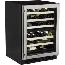 Marvel 40 Bottle Right Hinge Dual Zone Wine Cooler - Stainless Steel - ML24WDG2RS