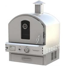 Pacific Living PL8304SS Natural Gas Stainless Steel Outdoor Built-In Pizza Oven (Ships As Propane With Natural Gas Fittings)