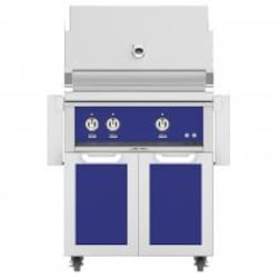 Hestan 30-Inch Propane Gas Grill W/ Rottisserie On Double Door Tower Cart - Prince - GABR30-LP-BU image