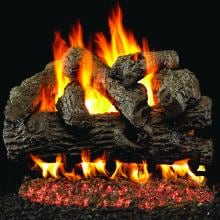 Peterson Real Fyre 18-Inch Royal English Oak Gas Log Set With Vented G4 Burner Peterson Real Fyre Royal English Oak Log Set