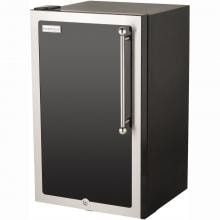 Fire Magic 20-Inch 4.0 Cu. Ft. Echelon Black Diamond Left Hinge Compact Refrigerator - Black - 3598H-DL image