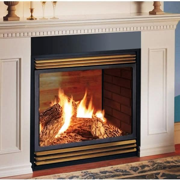 Napoleon gvf40 vent free propane gas see thru fireplace for See thru fireplace