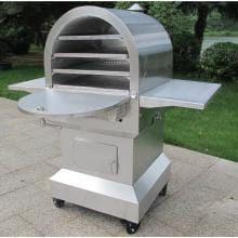 Smoke-N-Hot Stainless Steel Outdoor Pellet Pizza Oven Cooking Center Smoke-N-Hot Outdoor Cooking Center