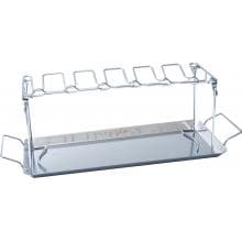 Man-Law 5 X 14 Inch Stainless Steel BBQ Wing Rack With Removable Grill Pan Man-Law BBQ Wing Rack