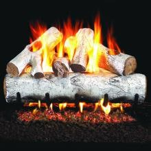Peterson Real Fyre 18-Inch White Birch Gas Log Set With Vented Propane G45 Burner - Manual Safety Pilot image
