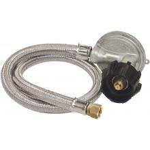 Bayou Classic 36 Inch Stainless Braided Hose With Low Pressure Regulator