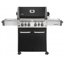 Napoleon Prestige 500 Freestanding Natural Gas Grill With Infrared Rear Burner & Infrared Side Burner - Black Napoleon Prestige 500 Natural Gas BBQ Grill W/ Rotisserie Burner & Infrared Side Burner On Cart - Black