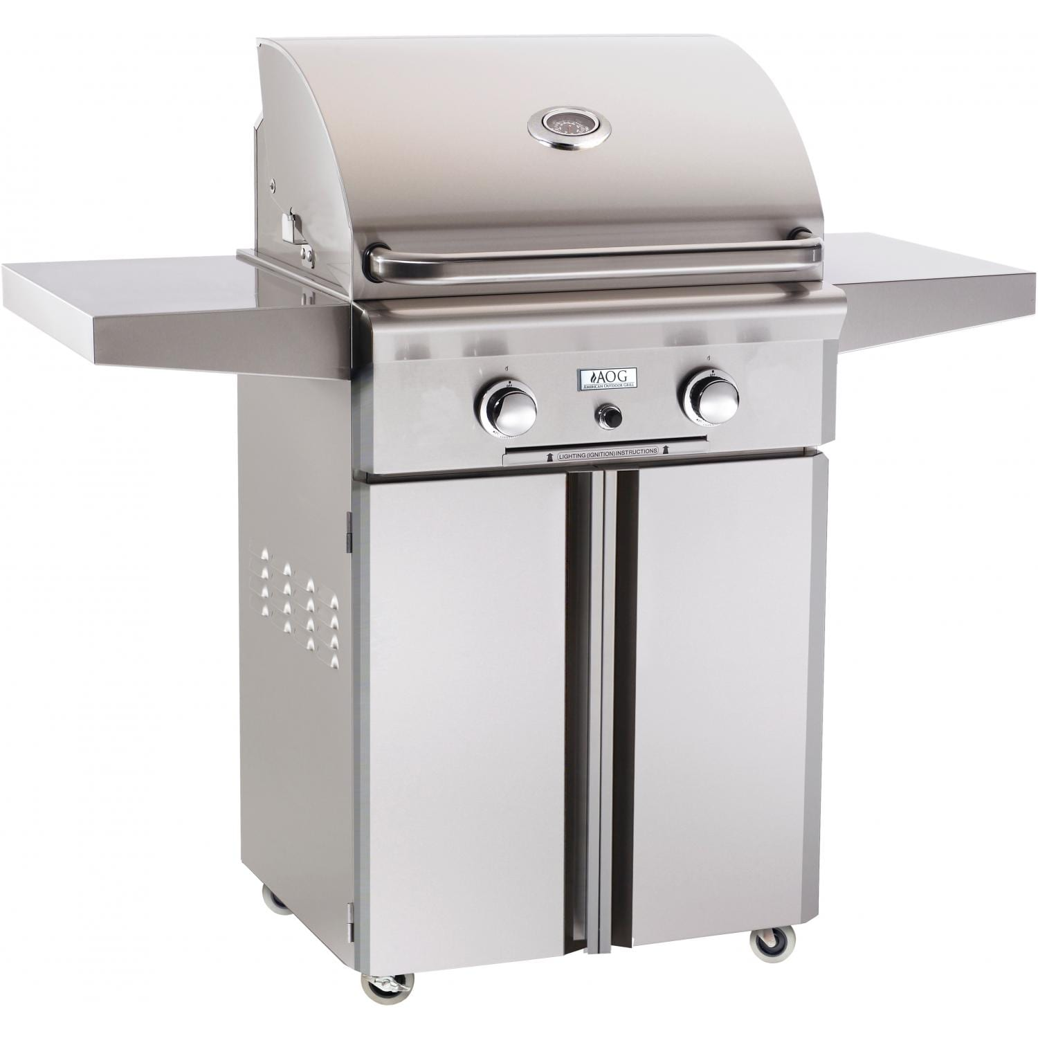 american outdoor grill 24 inch propane gas grill on cart bbq guys. Black Bedroom Furniture Sets. Home Design Ideas