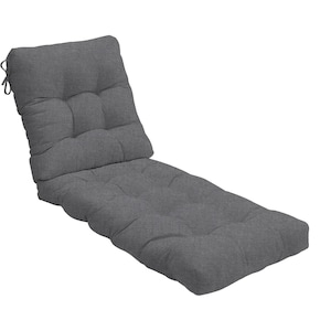 Sunbrella Cast Slate Extra Long Outdoor Replacement Chaise Lounge Cushion By BBQGuys image