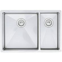 Blanco Precision 33 X 18 18-Gauge 1-1/2 Double Bowl Stainless Steel Undermount Sink - 516218 image