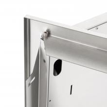 BBQGuys.com Sonoma Series 30-Inch Stainless Steel Double Access Door BBQGuys.com Sonoma Series 27-Inch Stainless Steel Double Access Door - Hidden Hinge Detail