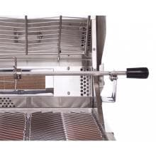 Cal Flame 40-Inch 5-Burner Convection Built-In Natural Gas BBQ Grill With Rotisserie (Ships As Propane With Conversion Fittings) - BBQ15875CN Cal Flame 5 Burner Convection Built In Gas Grill - Rotisserie Spit Rod Handle