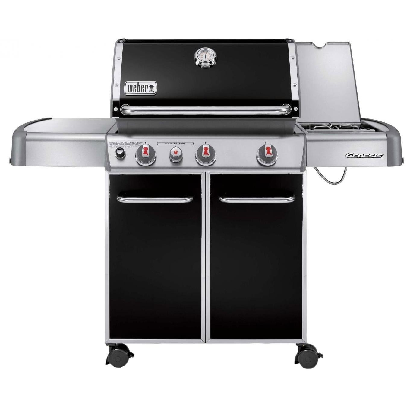 weber genesis e 330 propane gas bbq grill on cart with. Black Bedroom Furniture Sets. Home Design Ideas