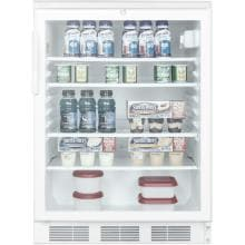Summit 24-Inch 5.5 Cu. Ft. Commercial Rated Beverage Refrigerator - White - SCR600LBI Summit 5.5 Cu. Ft. Beverage Refrigerator - SCR600LBI - Shown Stocked