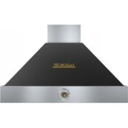 Tecnogas Superiore 36-Inch DECO Black / Brass Wall Mount Vent Hood - 600 CFM - HD361AC-NB image