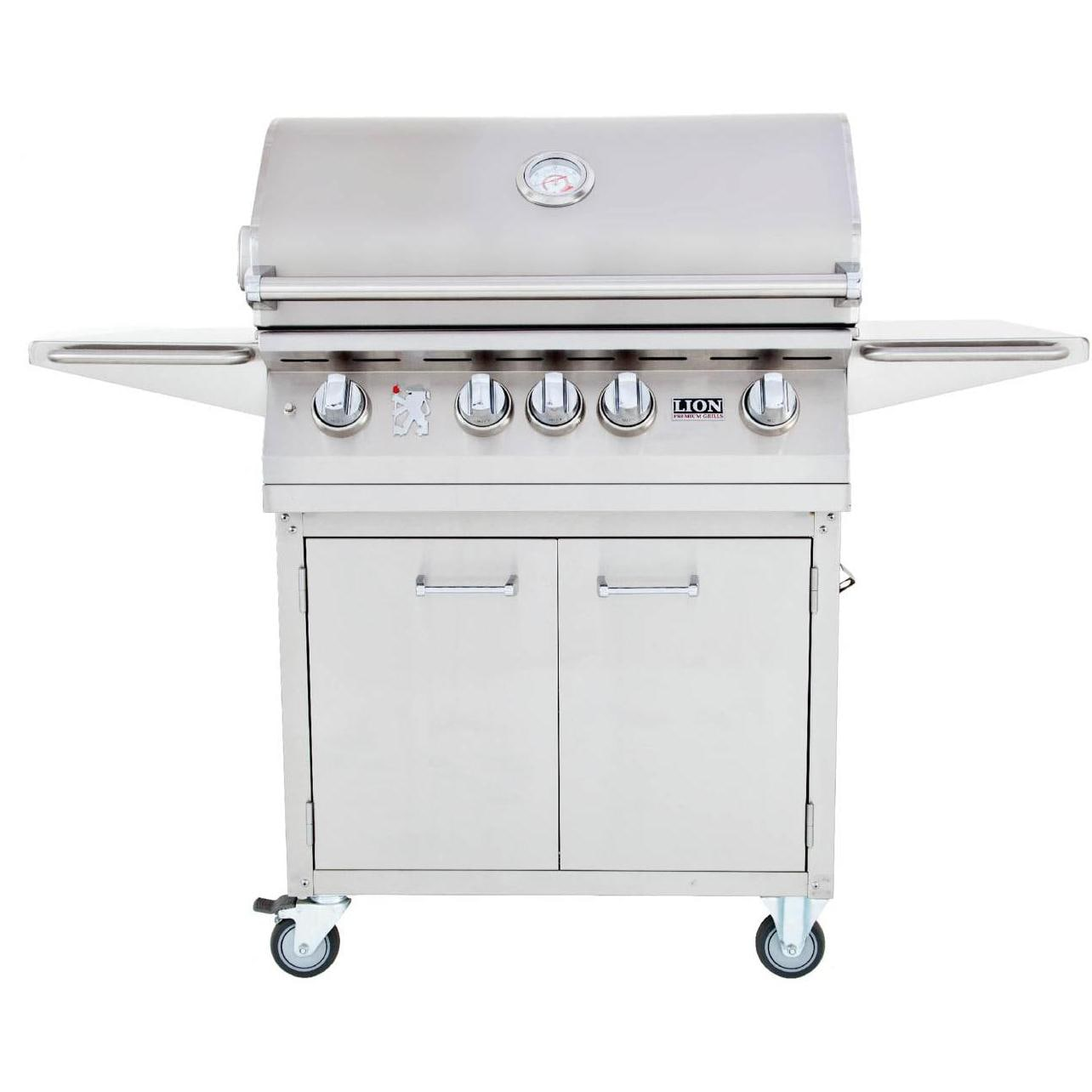 lion 32inch l75000 stainless steel propane gas grill on cart