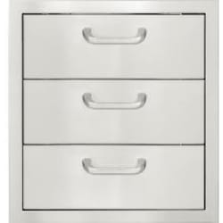 BBQGuys.com Kingston Series 20-Inch Stainless Steel Double Access Drawer With Paper Towel Dispenser image