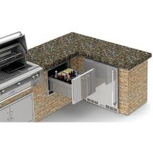 Alfresco 26-Inch Under Counter Ice Drawer & Beverage Center - AXE-ID image