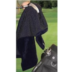 Terry Town Micro Fiber Scrubber Grommeted Golf Towel - Black image