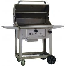 Bull Bison 30-Inch Freestanding Charcoal Grill - 67531 Bull Bison 30-Inch Freestanding Charcoal Grill - Hood Open