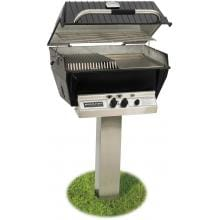 Broilmaster P3-SX Super Premium Propane Gas Grill On Stainless Steel In-Ground Post Broilmaster P3-SX Super Premium Gas Grill On Stainless Steel In-Ground Post